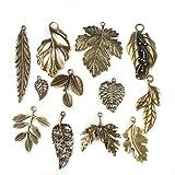 24 stk. Gemischte Blatt-Charme Antique Bronze-Legierungs-Anhänger