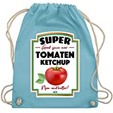 Karneval & Fasching - Ketchup Kostüm funny - Unisize - Hellblau - WM110 - Turnbeutel & Gym Bag