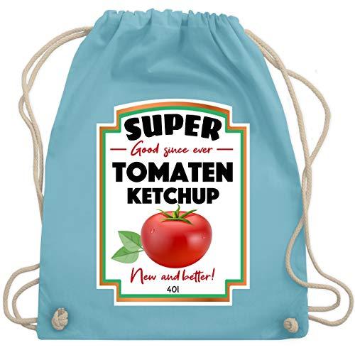 (Karneval & Fasching - Ketchup Kostüm funny - Unisize - Hellblau - WM110 - Turnbeutel & Gym Bag)