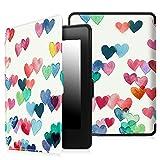 Fintie Kindle Paperwhite Custodia - Case Cover Custodia Ultra Sottile per Amazon Nuovo Kindle Paperwhite (Adatto Tutte le versioni: 2012, 2013, 2014 e 2015 Nuovo 300 ppi) (Z -Raining Hearts)