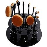 Rovtop 10 Pzas Brochas de Maquillaje Cepillos Ovales con un Organizador de Maquillaje Profesional Soporte Para Secado De Brochas Pinceles De Maquillaje