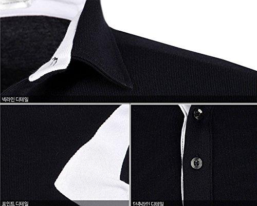 Herren Premium Triangle Langarm Kragen / Poloshirts T-Shirts Polo Shirts White