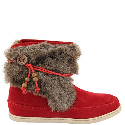 Unbekannt - Pantofole a Stivaletto Donna Rosso (rosso)