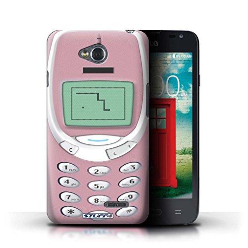 Kobalt® Imprimé Etui / Coque pour LG L65/D280 / Nokia 8210 noir conception / Série Portables rétro Nokia 3310 rose