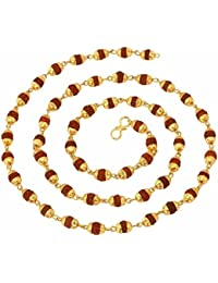 Charms Long Mala Necklace for Men (Golden)(MALA-09)
