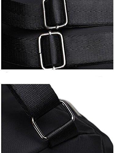 Moda Colore Borse A Tracolla Impermeabile In Nylon Borse Di Stoffa Oxford Black