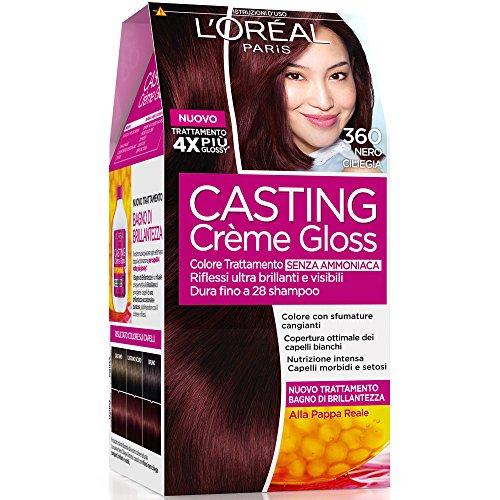 L'Oréal Paris Casting Crème Gloss Colore Trattamento senza Ammoniaca, 360 Nero Ciliegia