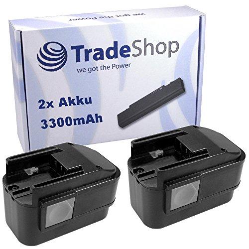 Preisvergleich Produktbild 2x Hochleistungs Ni-MH Akku, 9,6V / 3300mAh ersetzt 4932353638 4932366429 B9.6 BX9.6 BXS9.6 MX9.6 für AEG 2000 Battery Light PL Option BEST 9.6X BEST 9.6X Super BL Multi-volt-lamp BS2E 9.6T P9.6