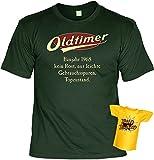 Lustiges T-Shirt Zum 50.Geburtstag mit Mini -T-Shirt - Geschenk-Idee Geschenkset 50 Mann/Frau : Baujahr 1968-50 Jahre - 50 Jahre Sprüche Tshirt Fun T-Shirt Gr: M Farbe: Dunkelgrün