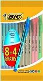 BIC - Penna a gel'Cristal', 12 pezzi, colori assortiti