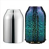 TaoTronics Diffuseur d'Huiles Essentielles Design élégant en verre 3D Humidificateur 7 couleurs LED, Diffuseur d'huiles essentielles compact 6.76oz / 200mL avec 2 Couvercles, Mode Nuit, Auto-extinction, Minuteur