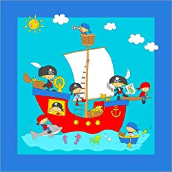 "Cuadro ""Pirate Ship"" de Fluffy Feelings, 120 x 120 cm."