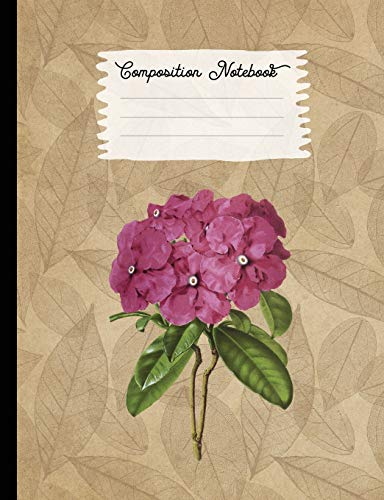 Composition Notebook: College Ruled Blank Lined Journals for School - Brunfelsia (Vintage Flowers and Plants, Band 11)