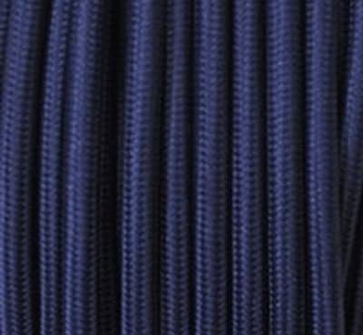 Textilkabel Stoffkabel marine - blau , 2-adrig rund , 2x0,75 von Globe Warehouse auf Lampenhans.de