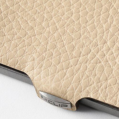 I-CLIP Portafoglio sottile porta carte di credito e banconote (crema)