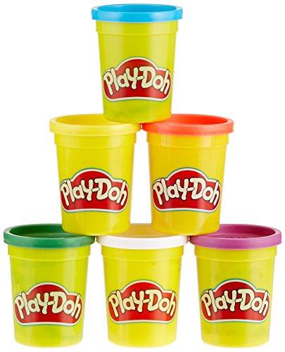 Hasbro Play-Doh C3898EU4 6er Pack Grundfarben, Knete Play-doh Rot