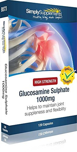 Sulfate de Glucosamine 1000mg | Pour les articulations | 120 Gélules | Simply Supplements