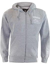 Crosshatch Mens Beaky Designer Sweatshirt Zip Through Top Fleece Lined Hoodie