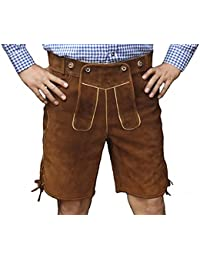 Trachten Bavarian shorts made of Wildleder in Camel brown w/o suspenders, Size:62
