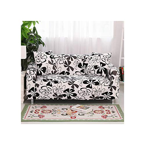 Lionel Philip All Black Color Sofa Cover Couch Cover Polyester Bench Covers Elastic Stretch Furniture Slipcovers for Christmas Home Decoration,K001,Ab 230-300Cm