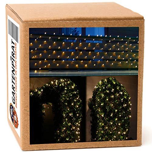 LED Lichternetz 4x1 m 160 LED warmweiß für außen Balkon