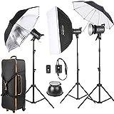 Godox SK300-D 3 *300WS Studio Photo Kit de Flash stroboscopique 3 *lumière Stand / 1 *Softbox / 1 *réflecteur parapluie / 1 *souple parapluie / 1 *Flash Trigger / 1 *abat-jour / 1 *sac de transport