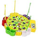 F Fityle Elektrisches Fisch Angeln Spielzeug, Elektro Angelspiel Musikalisches Rollenspielzeug für Kinder Früherziehung - # B