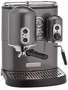 Kitchenaid 5KES100EPM Artisan Cafetière Espresso Gris Métal