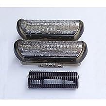 Laixing Buena Calidad 2x Shaver Foil Razor + 1xCutter 10B 20B para 1000 1735 1775 180 190 Z30 Z40