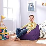 Bean Bag Bazaar® Chaise Pouf Moyen-Grande Taille pour Enfants pour Un Usage intérieur et extérieur de Chaises Pouf pour Enfants - Un Siège Fauteuil pour Enfant (Violet)