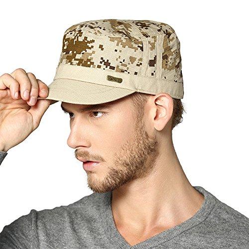 Kenmont Printemps Unisexe Homme Coton militaire Hat Visière Camouflage cadets (café)
