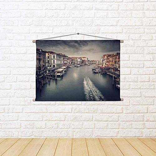 ArtzFolio Venice Beautiful Venice ArtzFolio Cityscape, Grand Canal,  Canvas Painting Tapestry Wall Hanging 36 X 24Inch 517e70