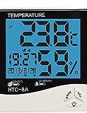 ZQ Feuchtigkeit Mete lcd digital htc-8 Temperaturmessgeräte Thermometer Hygrometer Temperatur Feuchtemesser Uhr