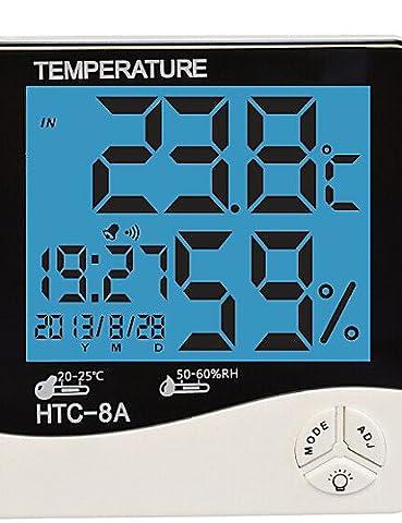 SDYJQ Luftfeuchtigkeit Mete LCD Digital HTC-8 Temperatur Instrumente Thermometer Hygrometer Temperatur Feuchte Wecker
