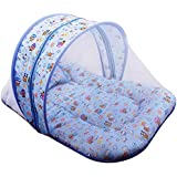 Baby Grow Baby Mattress Bedding With Mosquito Net Printed (Blue_Net)