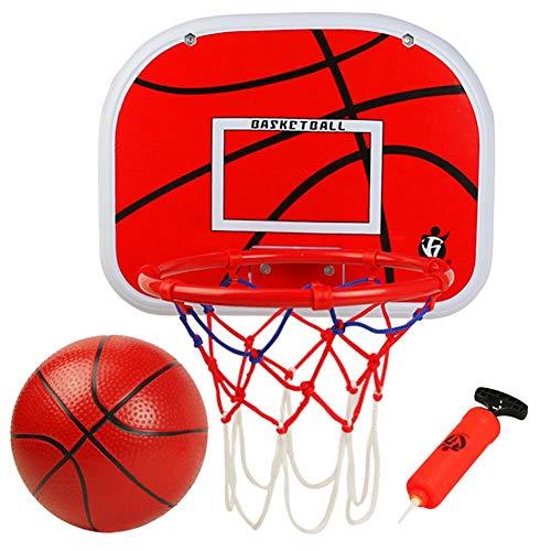 Canasta Baloncesto Tablero Baloncesto Juego Al Aire Libre y Interior Oficina Habitación Jardín Aro Baloncesto para Niños y Adultos (Incluyendo Inflador y Pelota)
