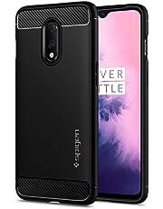 Spigen, Rugged Armor, Patent Design Flexible Black TPU Case Cover for OnePlus 7 - Matte Black