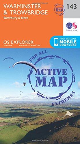 Warminster and Trowbridge 1 : 25 000 (OS Explorer Active Map)