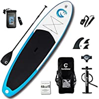 FunWater All Round Inflatable 335cm×81cm×15cm for All Skill Levels SUP Everything Included with Stand Up Paddle Board, Adj Paddle, Pump, ISUP Travel Backpack, Leash, Repair Kit, Waterproof Bag