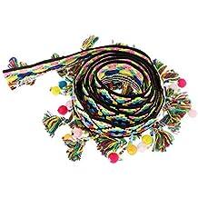 Baoblaze 1 Yarda Estilo Étnico Borla Flecos Trim Ribbon Costura Apliques Cinta Borlas Recortes DIY -