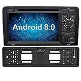 Ohok 7 Pollici Android 8.0.0 Oreo Octa Core 4G+32G 2 Din In Dash Autoradio Schermo di Tocco Lettore DVD Navigatore GPS Con Bluetooth Per Audi A3 2003-2013 con telecamera di retromarcia