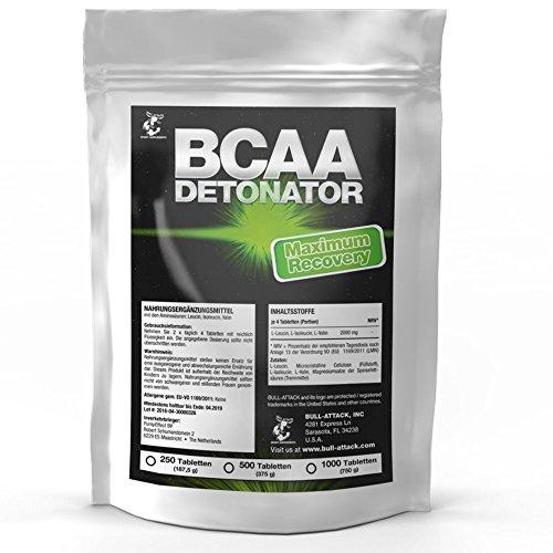 Bull-Attack BCAA Tabletten (500 Tabletten á 2000 mg Portion) L-Leucin + L-Isoleucin + L-Valin | Essentielle Aminosäure | Muskelaufbau & Regeneration