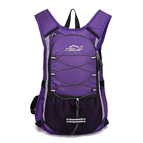 Minetom 12L Leggera Zaino Ciclismo Campeggio Viaggio Backpack Bag Impermeabile Trekking Escursionismo Montagna Alpinismo Viola Version B(24*7*44 Cm)