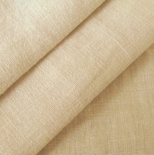 Beige 100% pure Linen Fabric by ...