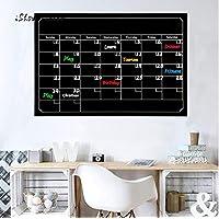 wassaw Chalkboard Wall Sticker Dry Erase Board Waterproof Blackboard Month Magnetic Calendar Chalkboard Wall Sticker For Office