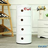 Round Medicine Cabinet KARTELL STYLE COMPONIBILI 4 TIER DRAWER BEDSIDE UNIT TABLE BATHROOM CABINET CADDY BEDROOM CHEST ROUND MODULAR KITCHEN UNIT BEDROOM/BATHROOM/OFFICE ROUND STORAGE SLIDE CABINET DRAWER UNIT FREE NEXT DAY DELIVERYSAME DAY DISPATCH BEFORE 2PM