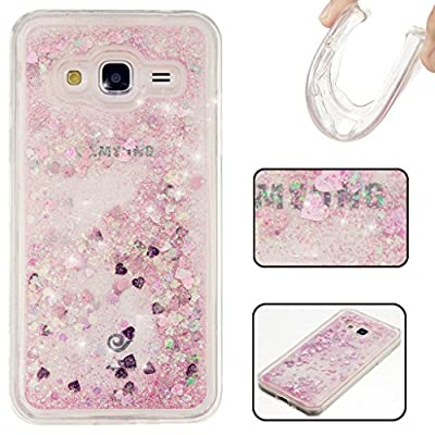 Etsue für iPhone 5C Dynamisch Treibsand Flüssige Fließend Wasser Schutzhülle, Liquid Bling Hülle Case Glitzer Glitter Shiny Glanz Sparkle Sterne Star Crystal Clear Case Bunte Painted Transparent Handyhülle für iPhone 5C - lila Treibsand