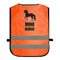 Kids Equine MINI RIDER Hi Viz Vis Tabard Childs Horse Riding Reflective Waistcoat Jacket Road Safety Equestrian High Visibility
