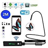 HD 1200P Wireless Endoskop, USB Endoskop WiFi Boroskop/Endoskop Kamera 2.0 Megapixel HD Auflösung:...