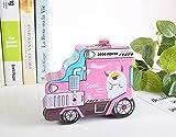 Schöne süße Geldbank Traktor Sparschwein lustige Weißblech Aufbewahrungsbox Kinder Belohnung (Pink)